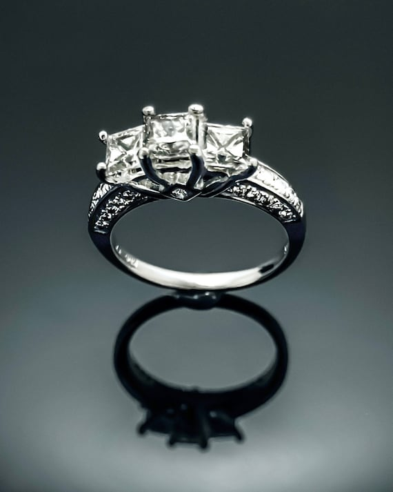 Diamond Ring,14K White Gold Diamond Ring,Engagemen