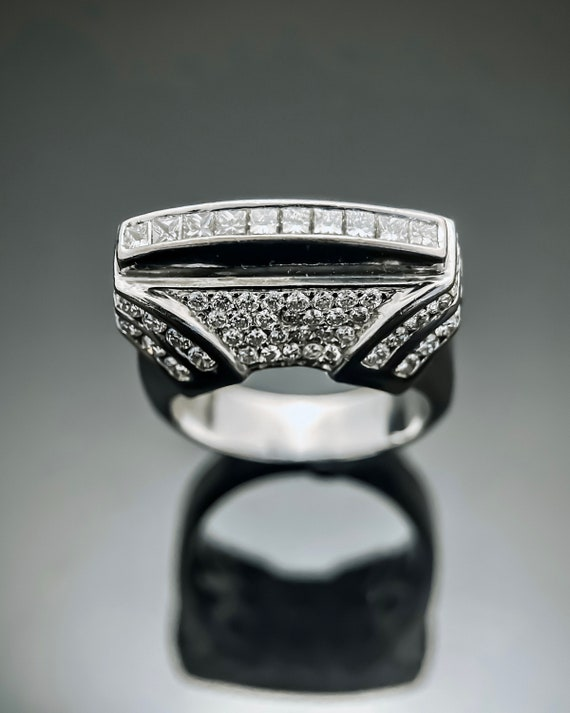 Diamond Ring, 18K White Gold Ring,Designer Ring,Di