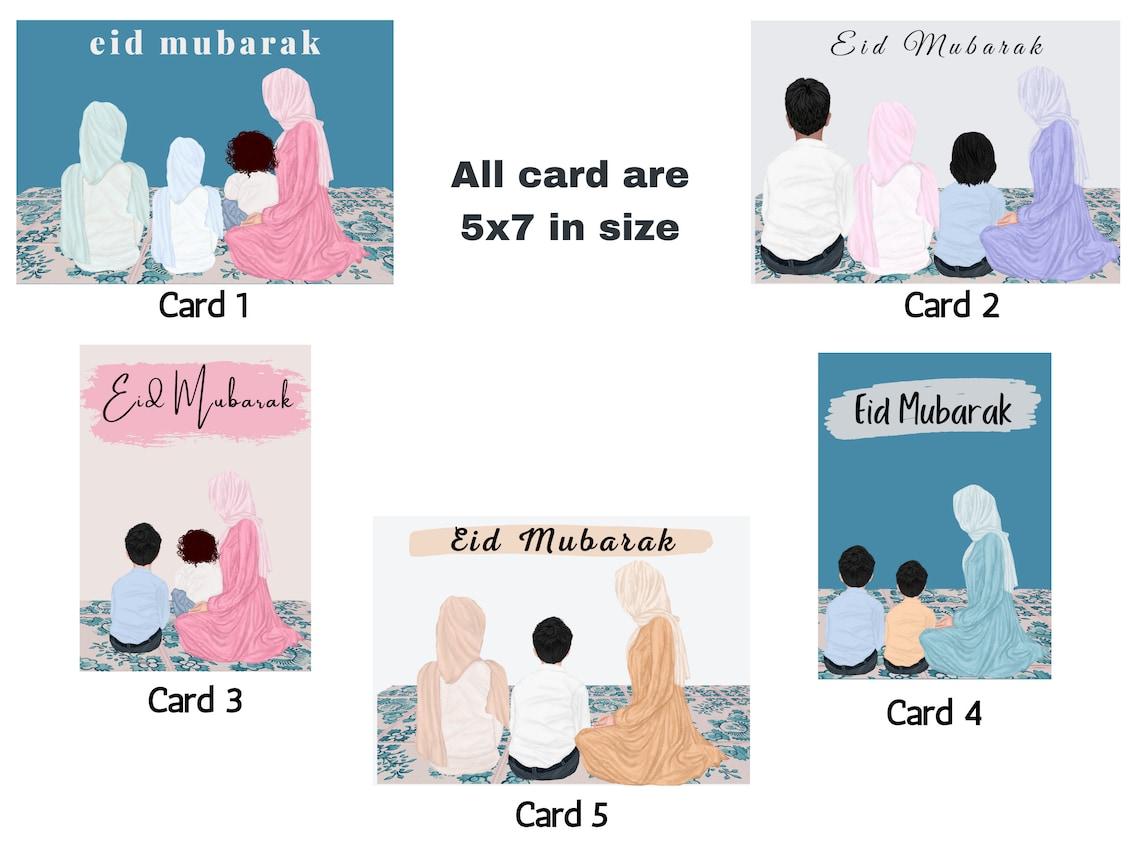 eid cards custom eid mubarak cards eid gifts personalized