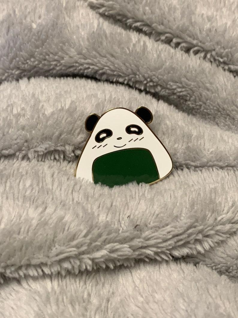 Kawaii Pins Kawaii Accessories Pin Badge Panda Onigiri Enamel Pin Hard Enamel Pin Kawaii Treats Cute