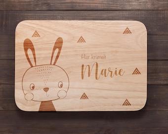 Breakfast board children, baby gift, board personalized, birthday gift, wooden board with engraving, breakfast board, baptismal gift