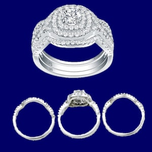 Men's Cool Fashion Solid 925 Sterling Silver 1.4 CT Zircon Band ...