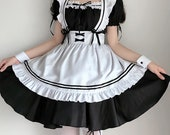 Sexy Cosplay Maid Costume Anime Women French Maid Outfit Dress Schoolgirl Lolitafashion Dress Uniform Sexy Plus Size Cosplay Princess Gowns