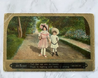 Antique Mourning Postcard, Early 1900s Edwardian