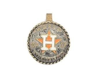 Houston Astros 2017 World Champions Nickel Silver Pendant.