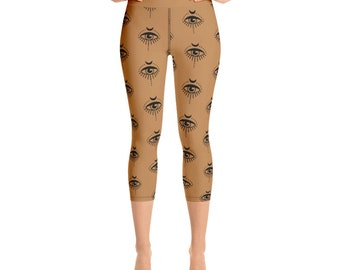 Subtle Evil Eye Protect Your Ass Ancient Symbol of Protection Yoga Leggings