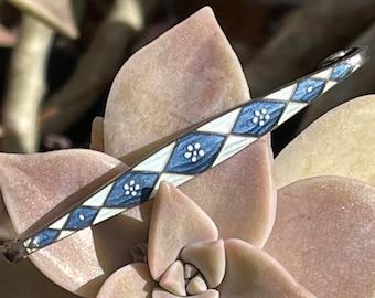 Antique German Jugendstil Meyle /& Mayer Sterling Silver Enamel Rose Floral Horseshoe Brooch Pin Germany Depose