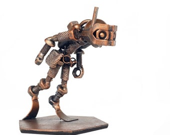Metal Scuba Diver Figurine, Diver sculpture, Diver Home Decor, Metal Diver Miniature, Desk Accessory, Snorkeling Figurine, Underwater Diving