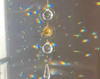 Crystal Boho Suncatcher Room Decor,  Nordic Scandi Style Home Accessory, Perfect Gifting for Her