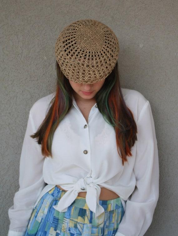 vintage straw hat, women hat, summer unisex straw… - image 4