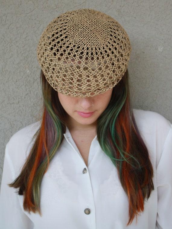 vintage straw hat, women hat, summer unisex straw… - image 6