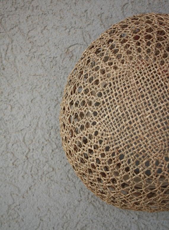vintage straw hat, women hat, summer unisex straw… - image 9