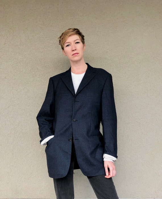 Vintage Lagerfeld Navy Blue Double Breasted Blazer