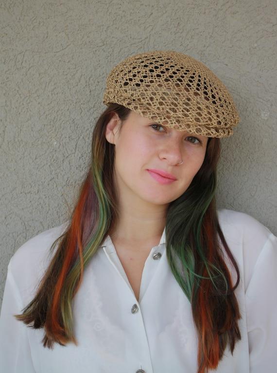 vintage straw hat, women hat, summer unisex straw… - image 2