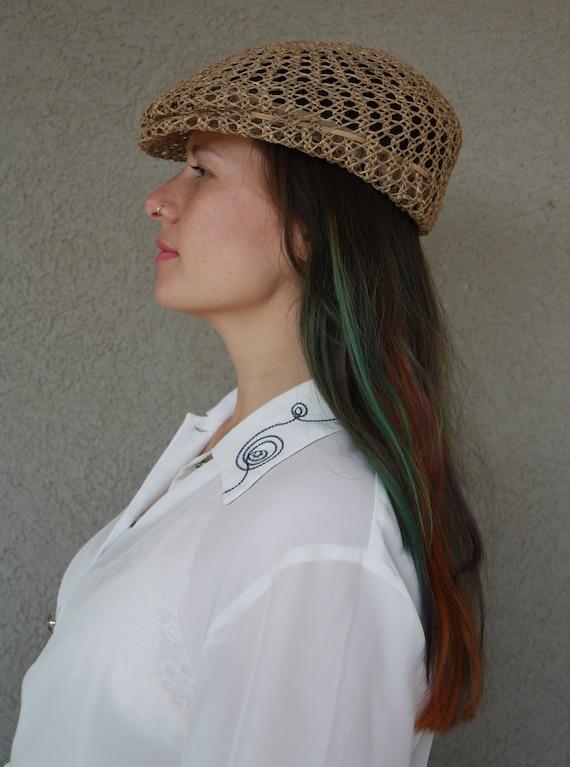 vintage straw hat, women hat, summer unisex straw… - image 8
