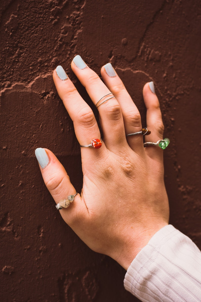 Stained Glass Ring in Silver