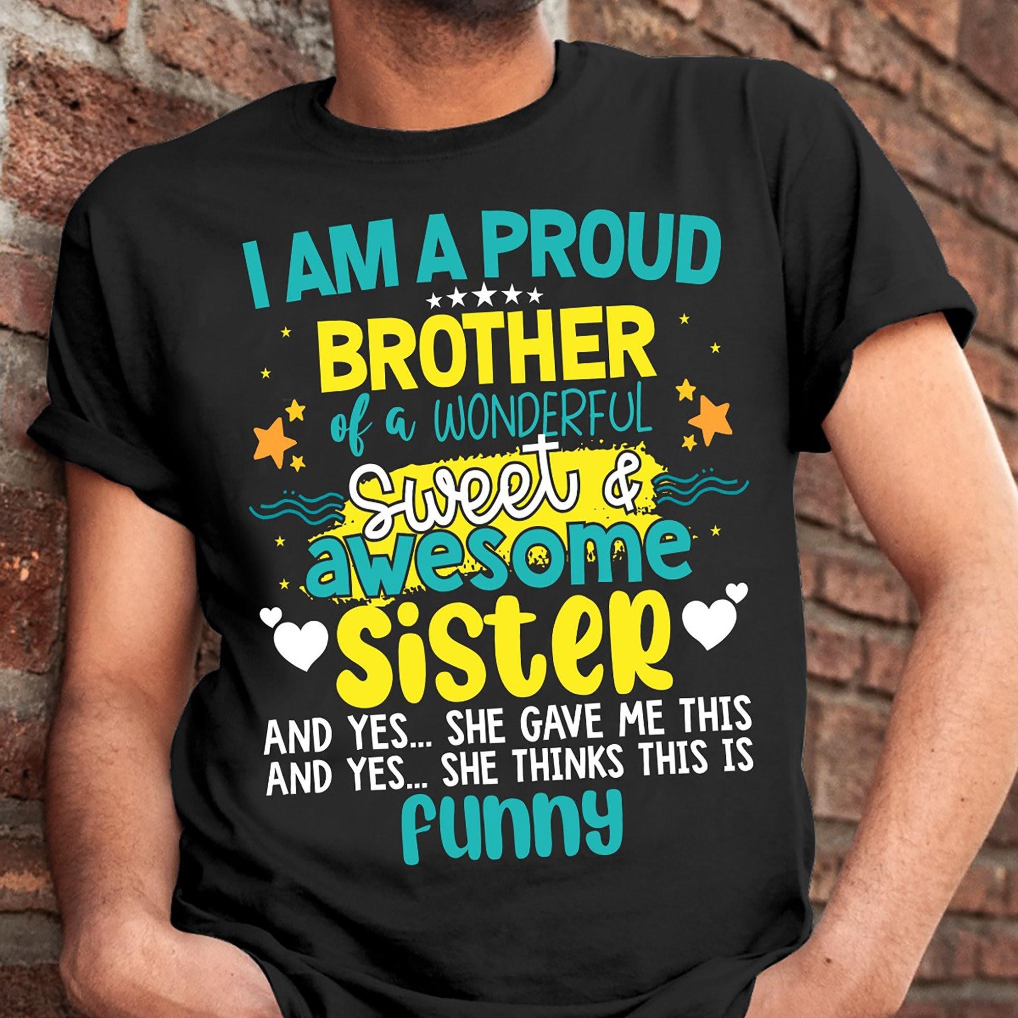 Ich bin ein stolzer Bruder von einem wunderbaren süßen | Etsy