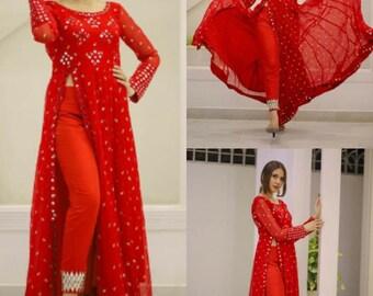Designer Lace Work Kurti Pant and Dupatta Set For Women /& Girls  Designer Kurti Set  Kurti Dupatta Set  Free Ship  Kurtis Printed kurtis