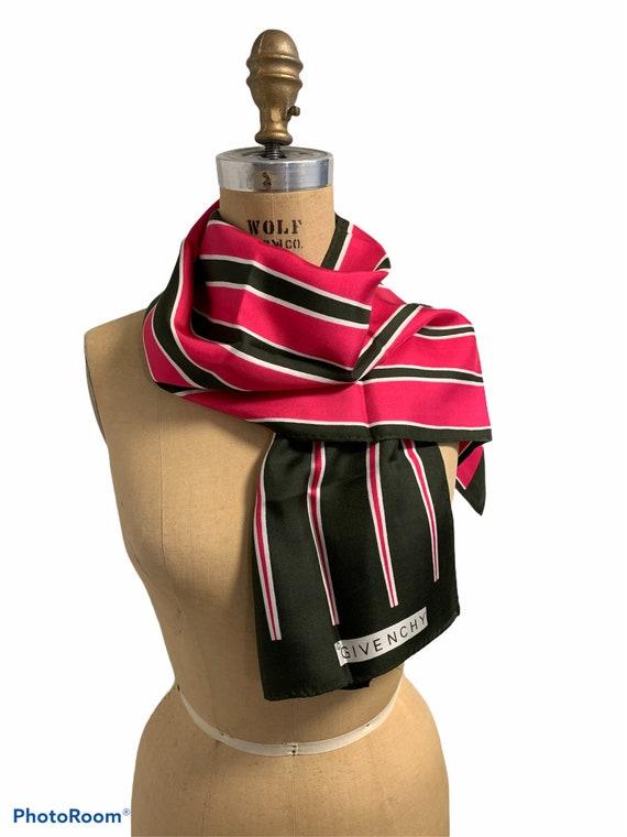 Vintage 60's Givenchy Silk Scarf Geometric Stripes