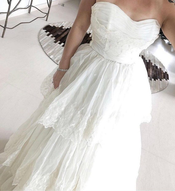 70's wedding gown
