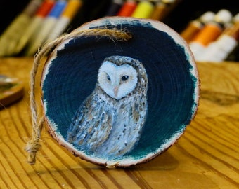 Owl Painting On Wood Etsy