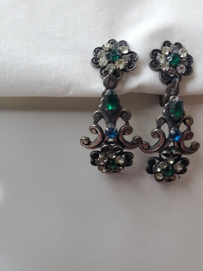 Amazing vintage signed Hobe dangle earringbrooch set