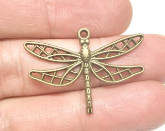 Alloy Enamel Pendants with Crystal Rhinestone Light Goldenrod Yellow  65mm x 56.5mm SCC1353 Antique Silver Dragonfly Pendant Necklace