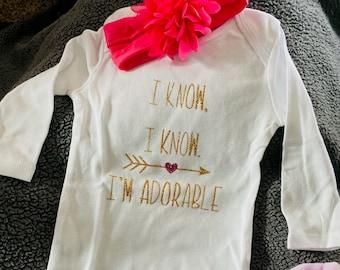 Baby Onesie Disney Thumper Rabbit Long Sleeve Onesie Baby Shower Disney Baby Clothes Disney Bambi Admit It I/'m Adorable Gift Idea