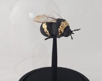 Bumblebee glass cloche
