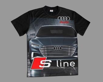 Handmade AUDI Quattro T Shirt T-Shirt rs s line a q cotton Made in Europe with Embroidery ALL SIZES s m l xl 2xl xxl 3xl 4xl 5XL 6xl