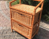 Boho Chest Of Drawers, Wicker Nightstand, Storage Cabinet With Drawers, Bedroom Dresser, Wicker Cabinet, Rattan Dresser, Bedside Drawers