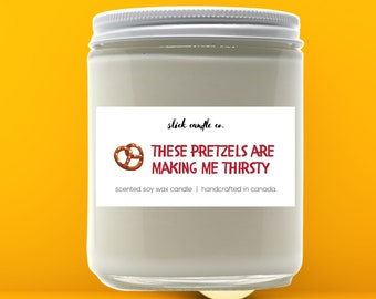 Pretzel Candle Etsy
