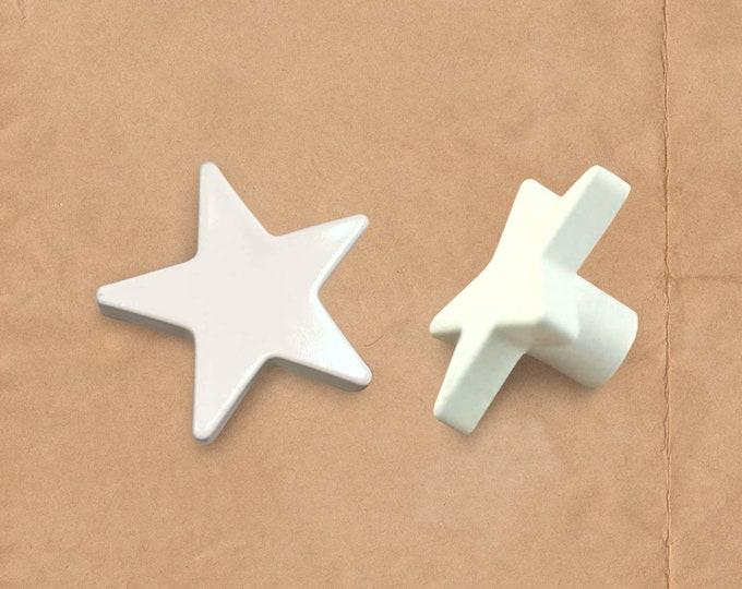 Star Drawer Knobs, Ceramic Nursery Knobs, Boho Drawer Knobs, Large Knobs, Hemnes Dresser Knobs, White Drawer Knobs, White Dresser Knobs