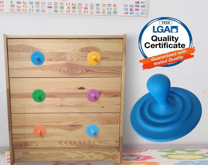 Colorful Drawer Knobs, Nursery Knobs, Childrens Knobs, Fun Knobs, Playroom Decor, Green Blue Yellow Red Pink Knob, Colorful Knobs, Kids Knob