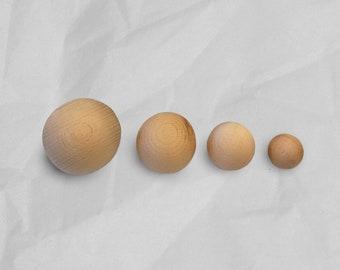 Extra Large Knobs, Large Wood Knobs, 30 40 50 60 80mm, Hemnes Dresser Knobs, Boho Drawer Knobs, Mid Century Knobs, Ball Knob Wooden