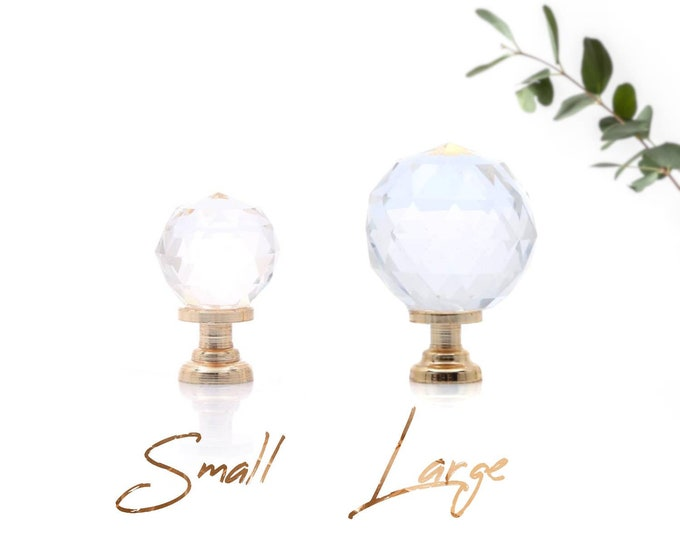 Crystal Glass Knob, Small Glass Knobs, Large Glass Knobs Glass Knobs for Dresser, Cabinets, Clear Glass Dresser Knobs Gold Glass Knobs