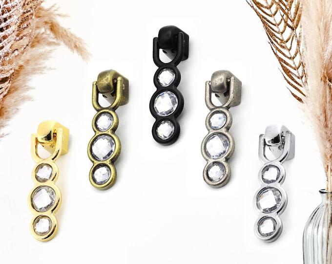 Crystal Drawer Knobs, Drop Pulls, Pendant Pulls, Dresser Knobs, Drawer Knobs, Farmhouse Knobs and Pulls, Antique Bronze Drop Pulls
