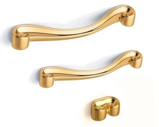 """Gold pulls 3.78"""" 5"""" 16 96 128 Chic Gold Cabinet Pulls Drawer Handles Pulls Modern Pulls Gold Handles Dresser Handles Chic Furniture Hardware"""