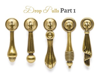 Drop Pulls Rustic Drop Pull Vintage Pull Antique Gold Pulls Farmhouse Decor Drop Pulls Handles Dresser Knobs Cabinet Pulls Hardware Part 1