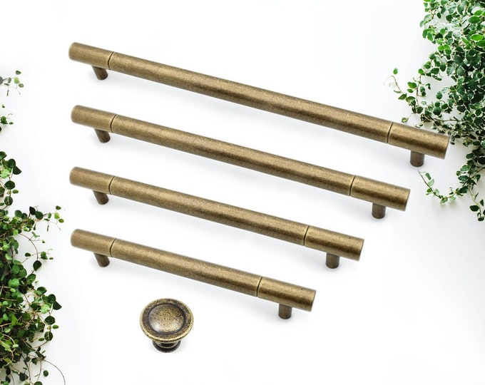 """Cabinet Knobs and Pulls 5"""" 6.3 7.5 8.8"""", 128mm 160 192 224mm, Large Cabinet Pulls Farmhouse Knobs and Pulls, Antique Bronze Cabinet Hardware"""