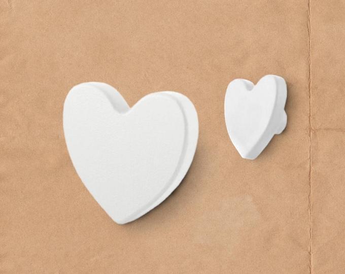 Heart Drawer Knobs, Boho Drawer Knobs, Nursery Knobs, White Drawer Knobs, Heart Knobs, Large Knobs, Hemnes Dresser Knobs