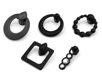 Black Drop Pulls Rustic Drop Pulls Matte Black Pendant Pull Farmhouse Decor Dresser Cabinet Knobs Pulls Handles Rustic Furniture Hardware