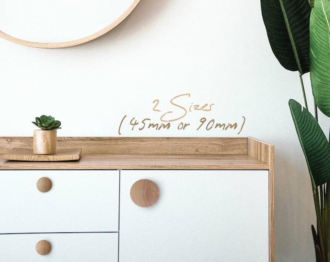 Wood Knobs Unfinished, Wood Drawer Knobs, Extra Large Wood Knobs, Nursery Knobs, Dresser Knobs, Nordic Decor, Boho Decor, Minimal Decor