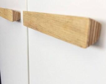 "Wood Drawer Knobs Pulls 6.4"" 3.78"" 5"" 6.3"" 7.5 8.8"" Beech Wood Pulls Wood Handles Wood Cabinet Pulls Wood Pull Handle Wardrobe Minimal Decor"