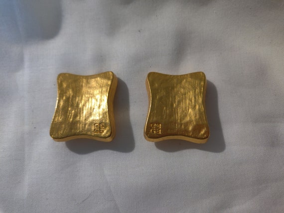 Vintage 1980s Givenchy Gold Clip On Earrings