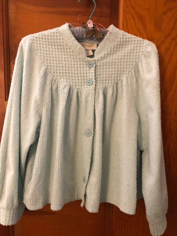 vintage chenille bed jacket / robe Leisure Life /