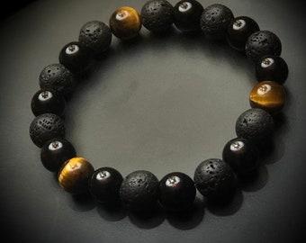 Black Onyx Black Lava Rock Tiger's Eye Legacy Linkz Jewelers Let's Stay Link'd