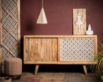 Crochet wooden Sideboard.