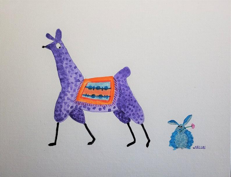 Llama and Blue Bunny