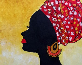 Peinture Silhouette Femme Etsy